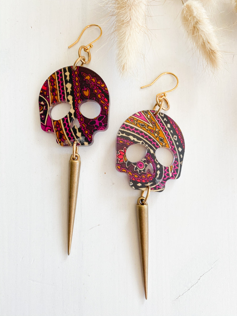 Skull Paisley Earrings
