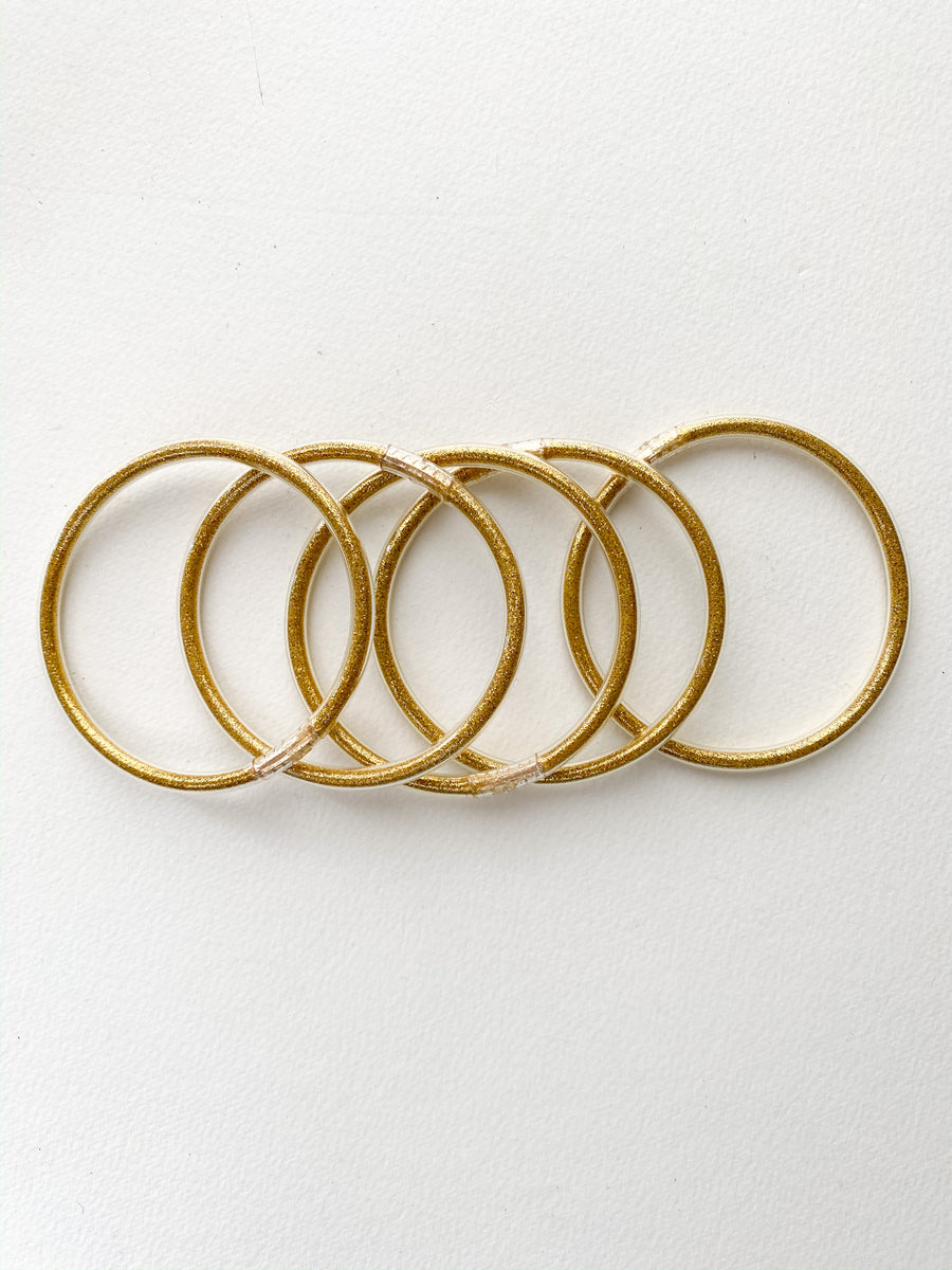 Gold Stackable Bangle Bracelets