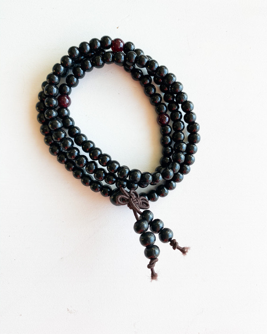 Black Buddha beaded wrap