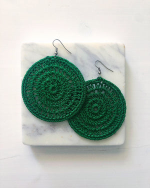 Stitched Hoop Earrings