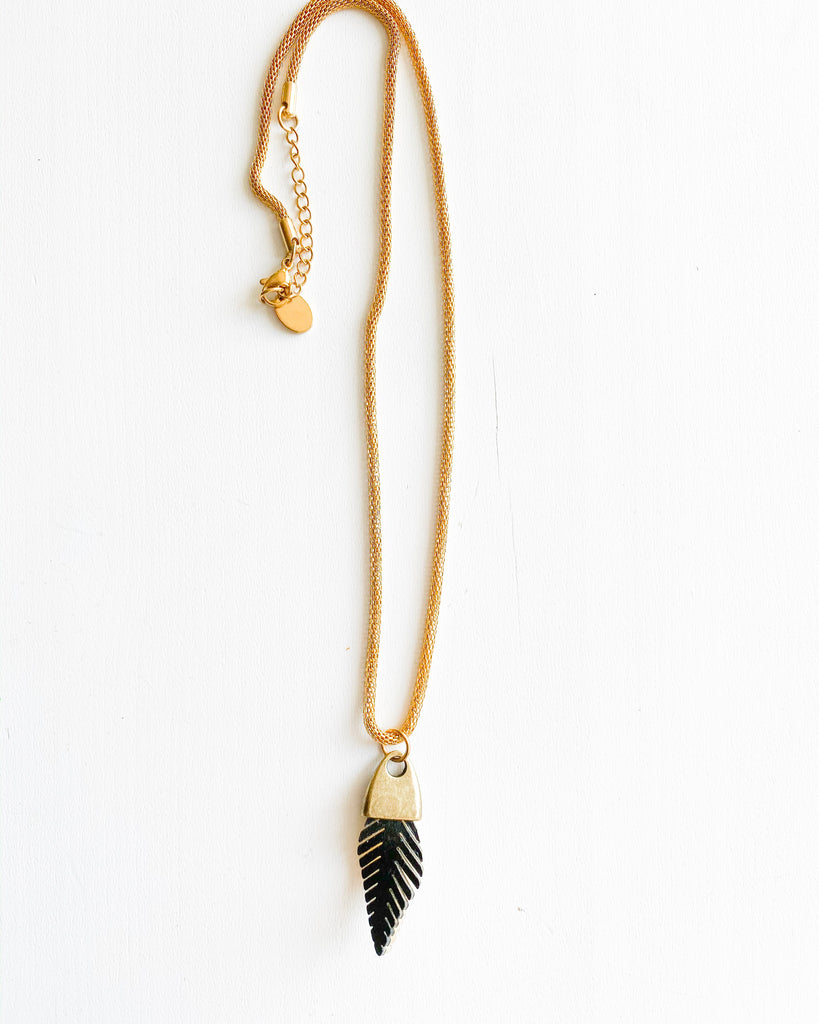Reversible Feather Necklace