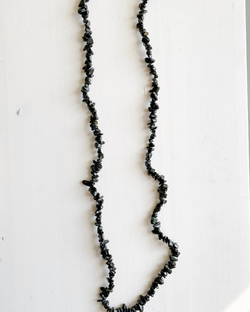 Obsidian Rock Necklace