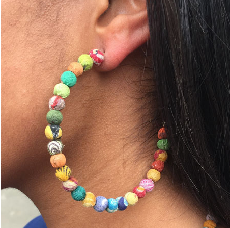 Mural Hoop Earrings