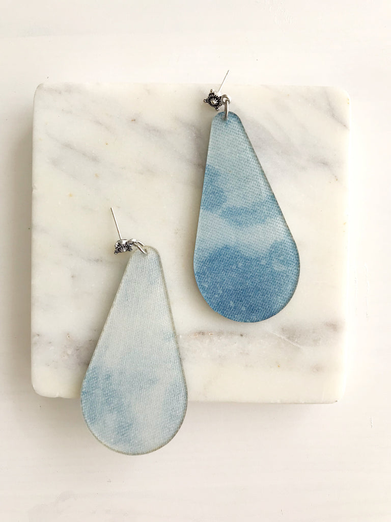 Dreamy Denim Earrings