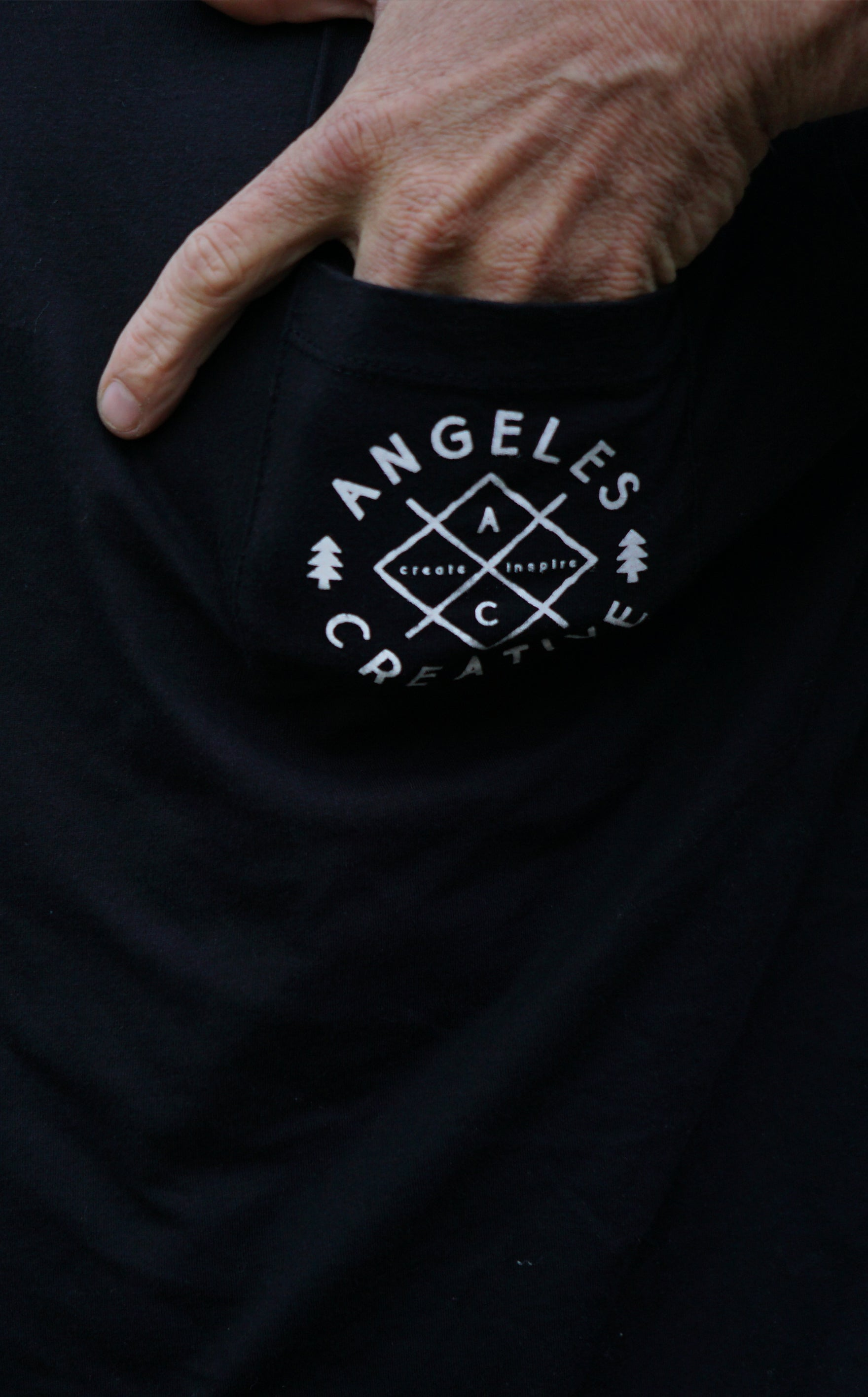 Logo Pocket Tee /// Black