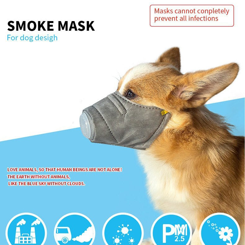 3 Pcs PM2.5 Anti Dust Soft Cotton Pet Protective Mask