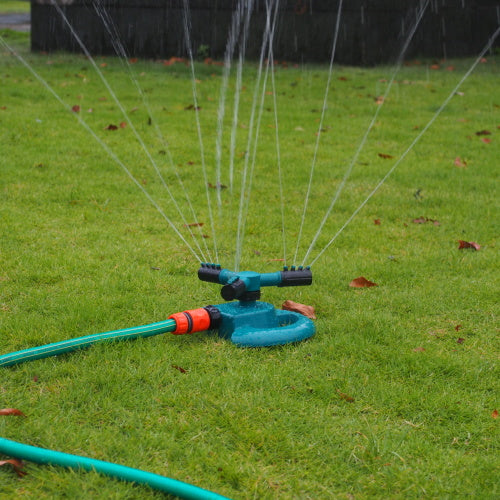 3 Arm 360 Degree Rotating Sprinkler Adjustable for Garden Lawn