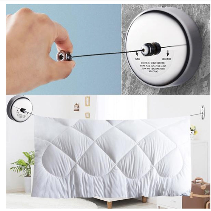 Stainless Line Indoor Retractable Clothesline telescopic invisible