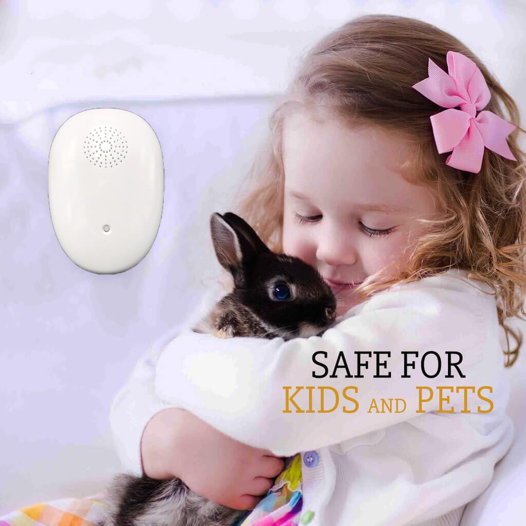 Ultrasonic Pest Repellent For Mosquitoes Fleas US Plug