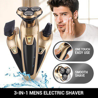 3 in 1 Rechargeable 3D Electric Floating Beard Shaver