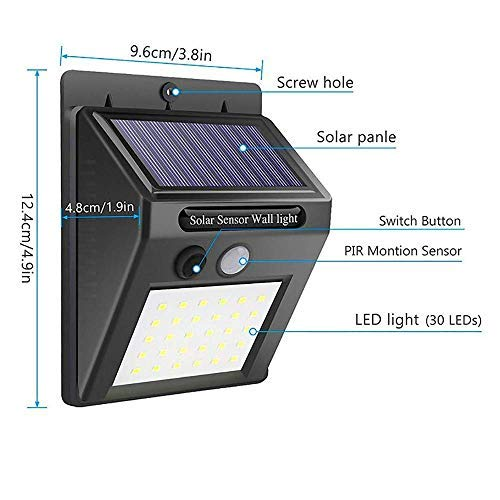Solar Motion Sensor LED Light Waterproof Outdoor