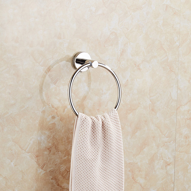 Hand Towel Ring Stainless Steel Bathroom Towel Ring Shiny