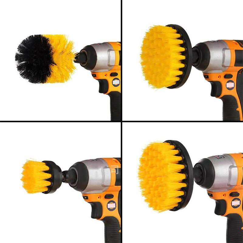 3Pcs/Set Electric Drill Cleaning Brush