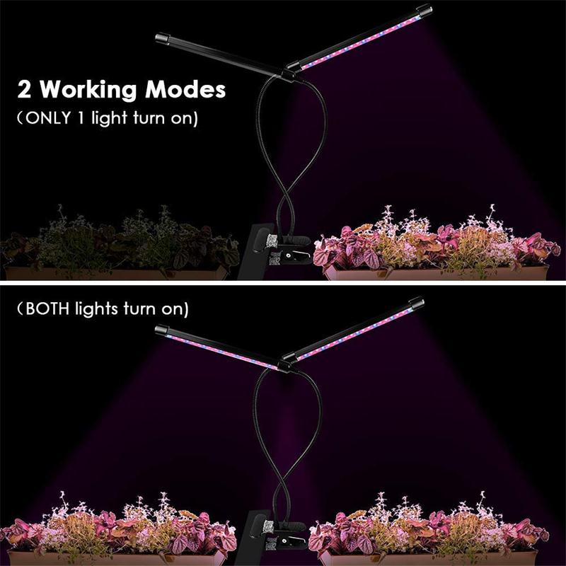 [PRE SALE] 18W Dual Head Timing Plants Growing Lamps with 40 LED