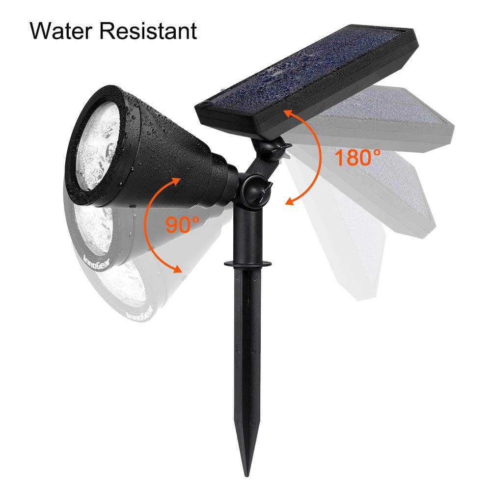 Solar Powered Spotlights Outdoor Waterproof
