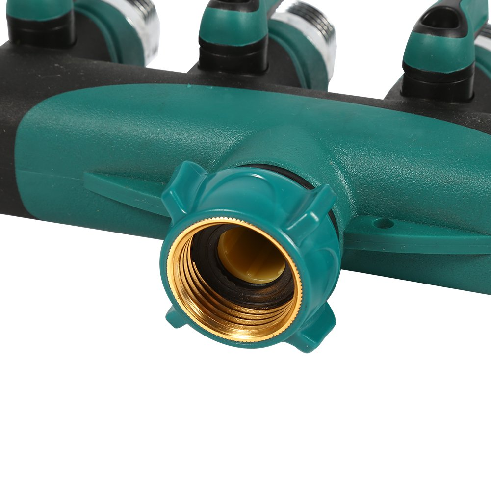 Y 4 Way Garden Hose Connector with 4 Connector