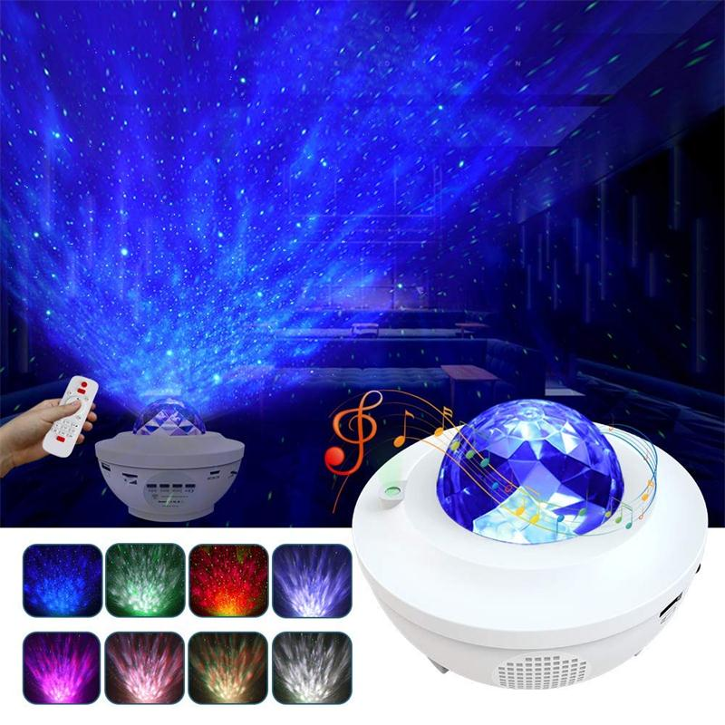 Music Starry Projector With LED Nebula Cloud