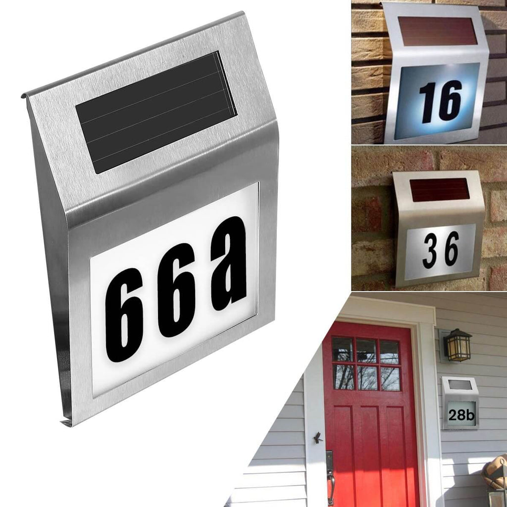 Solar Powered Address Doorplate Light