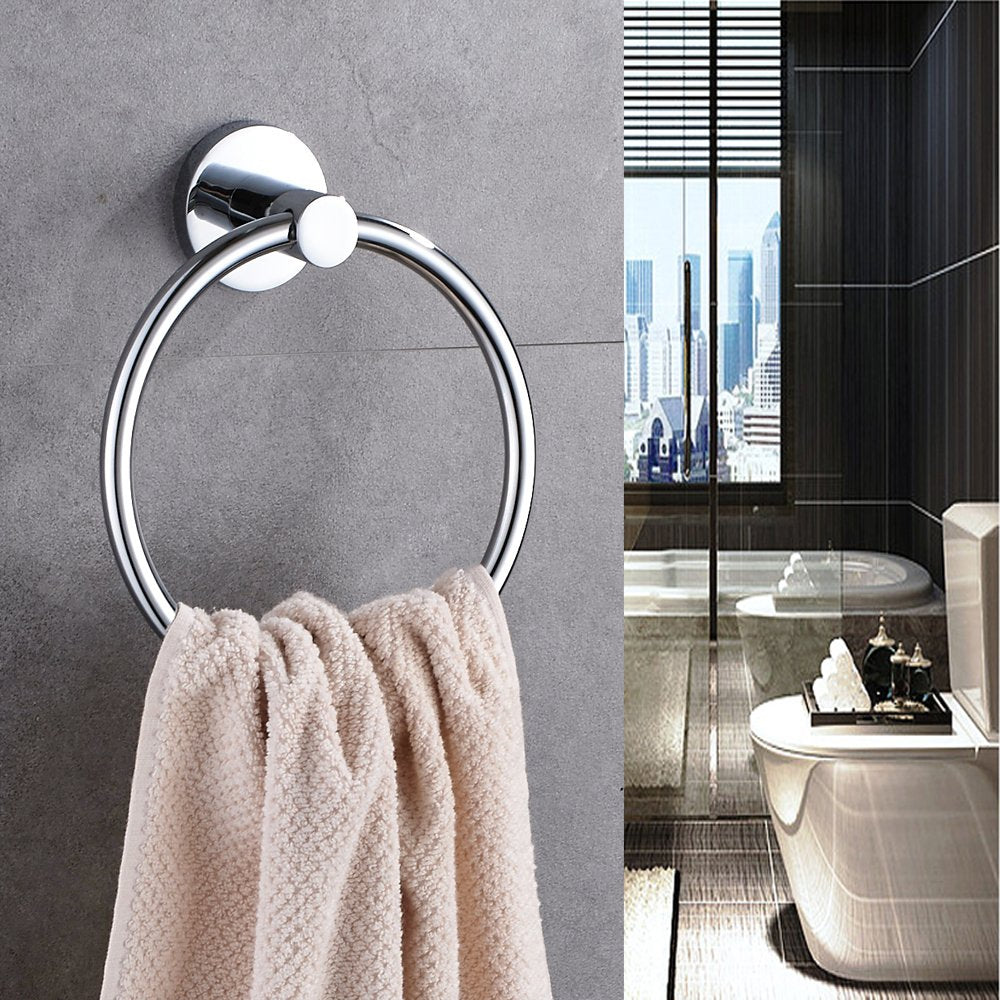 Hand Towel Ring Stainless Steel Bathroom Towel Ring Chrome