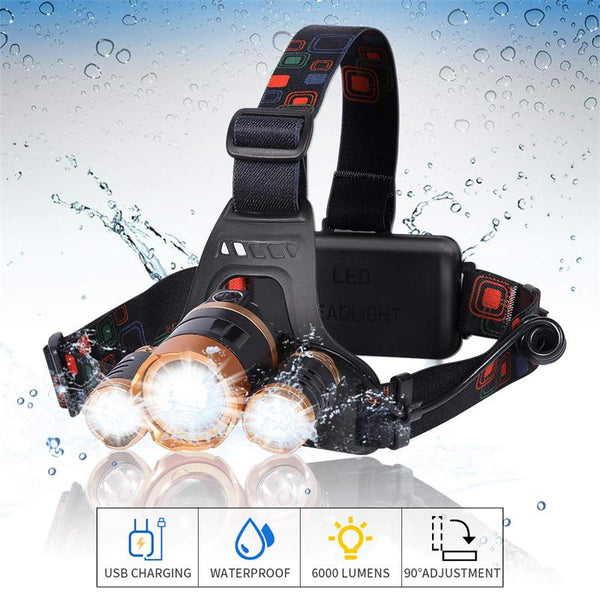 LED Headlamp Flashlight Waterproof