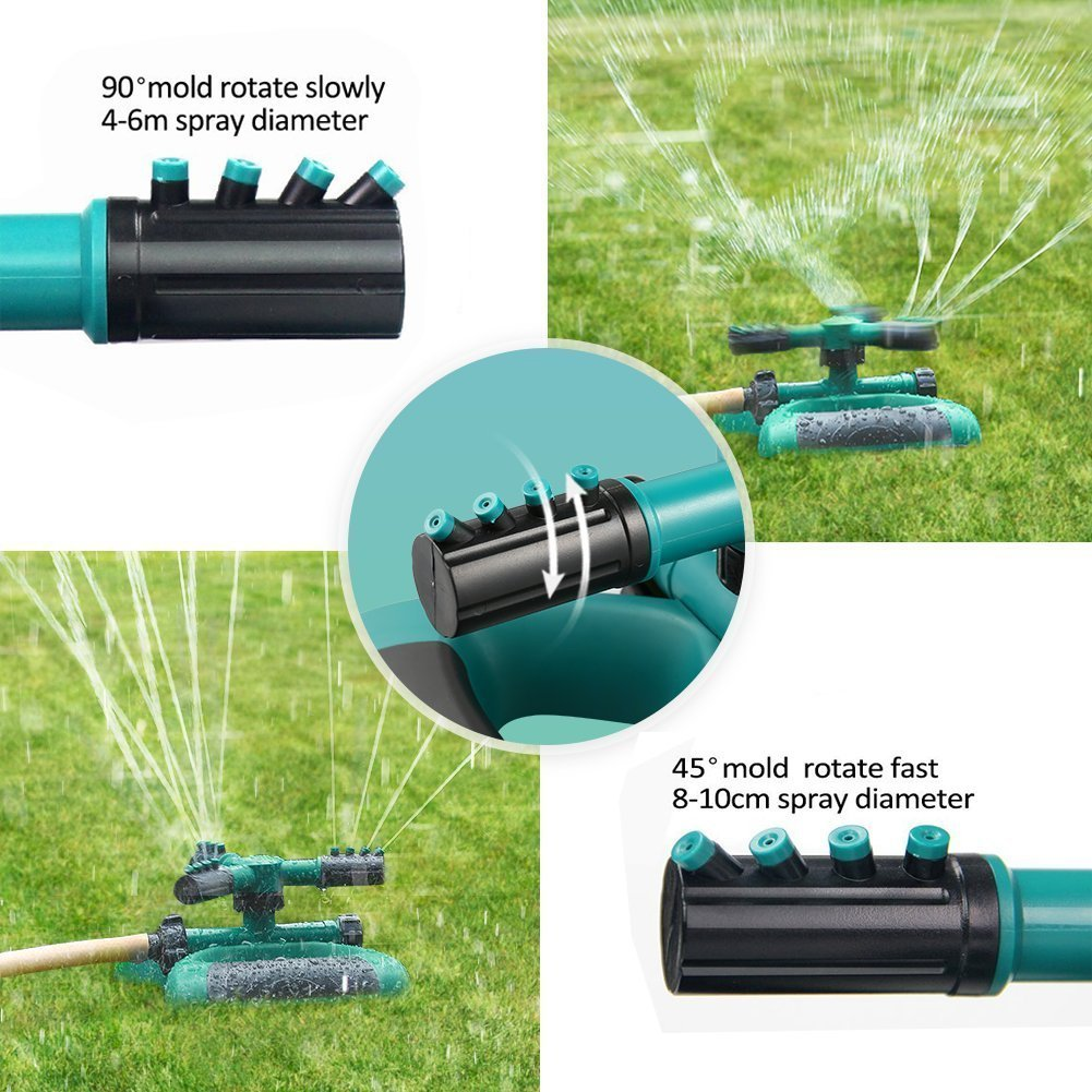 360 Rotating Adjustable Garden Lawn Sprinkler Butterfly Base