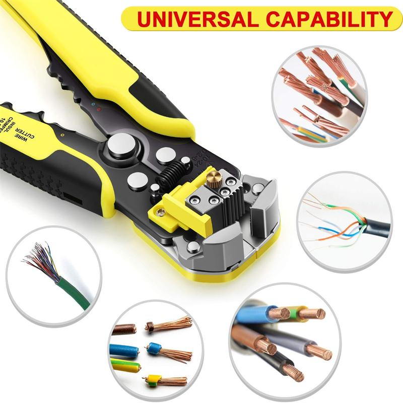 3 in 1 Automatic Wire Stripping Cutting Crimping Pliers