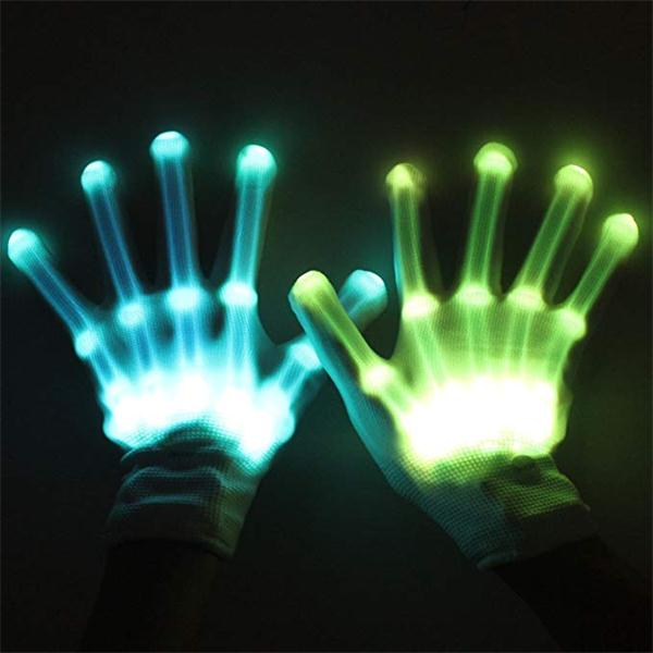 Led Skeleton Gloves Halloween Costume