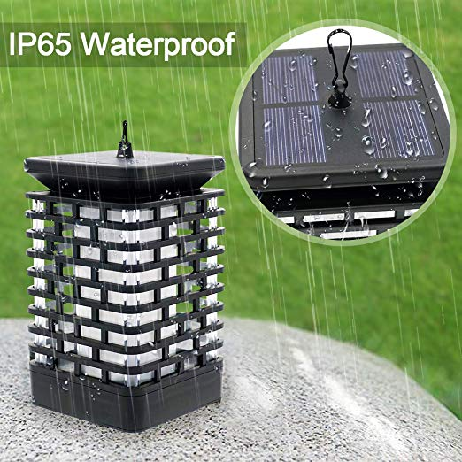 Outdoor Solar Powered Garden Led Hanging Flame Lamp