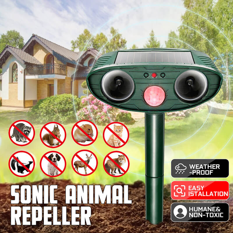 Solar Power Ultrasonic Infrared Repeller