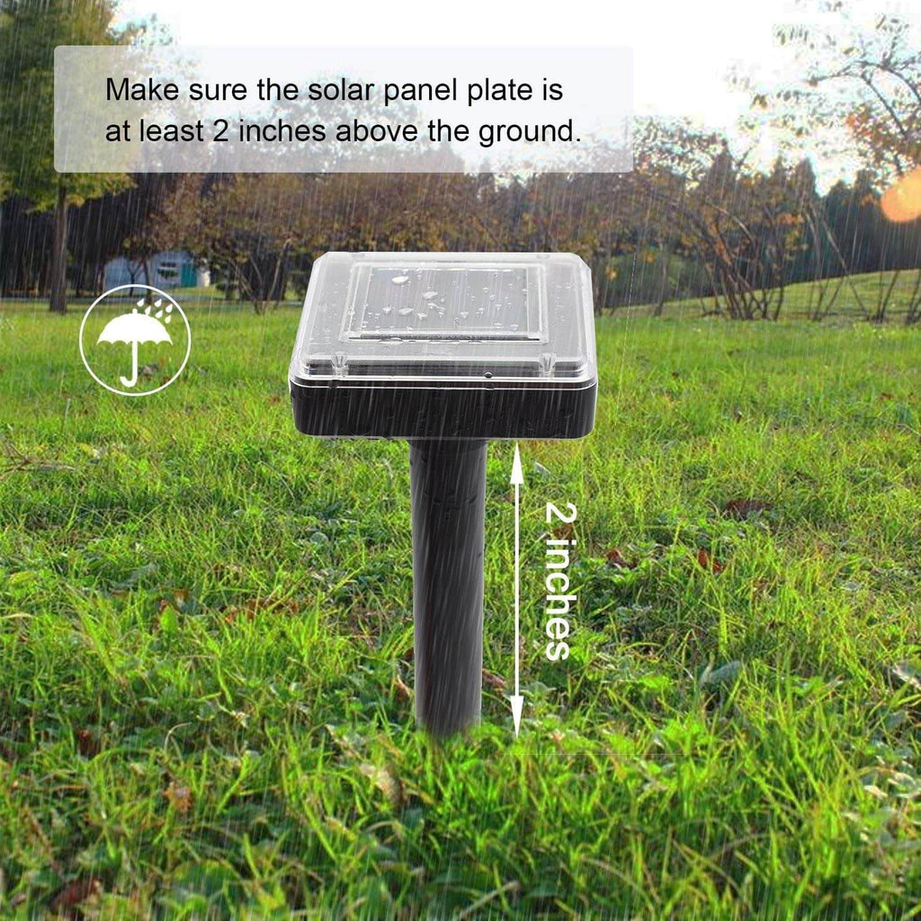 2 Pcs Solar Ultrasonic Repeller Moles Control