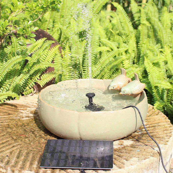 Solar Fountain Pump for Small Pond Garden