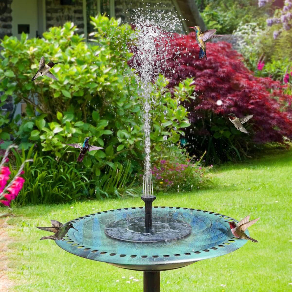 Solar Fountain Bird Bath Pump Floating Garden Lake Fountain Kit