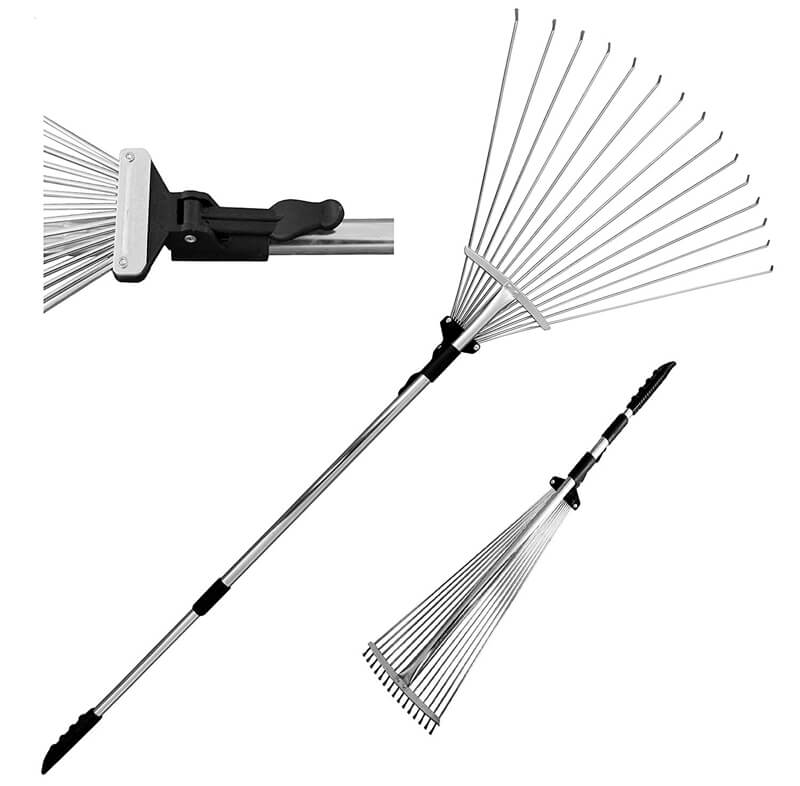 Adjustable Folding Leaves Rake