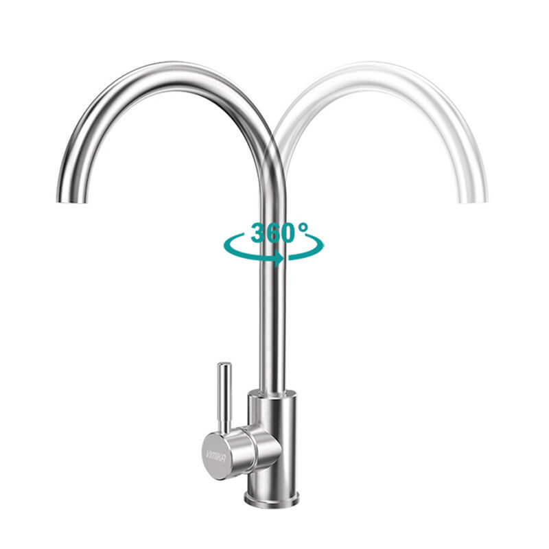 Stainless Steel Lead-Free Kitchen Hot And Cold Water Faucet