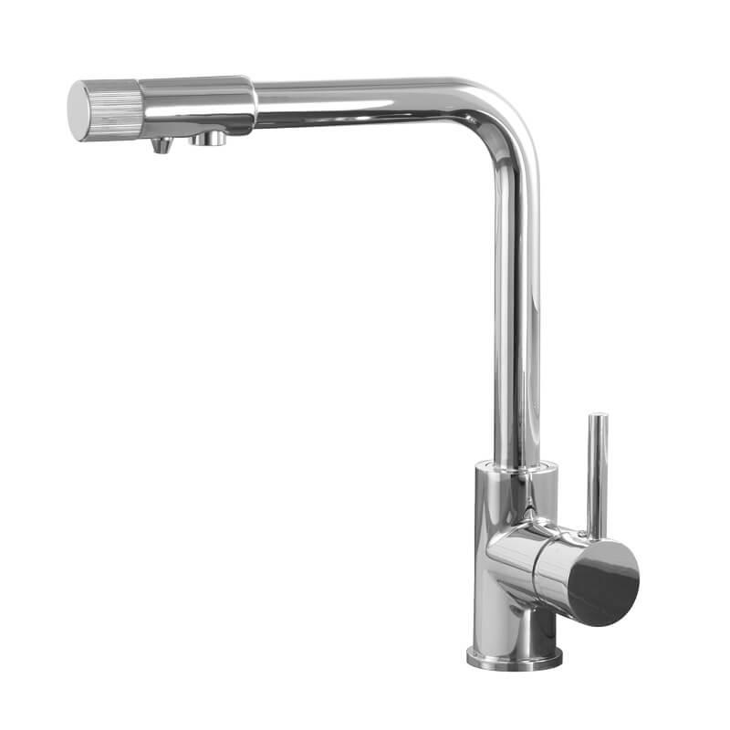 Brass Sink Kitchen Faucet Single Hole Swivel Outlet