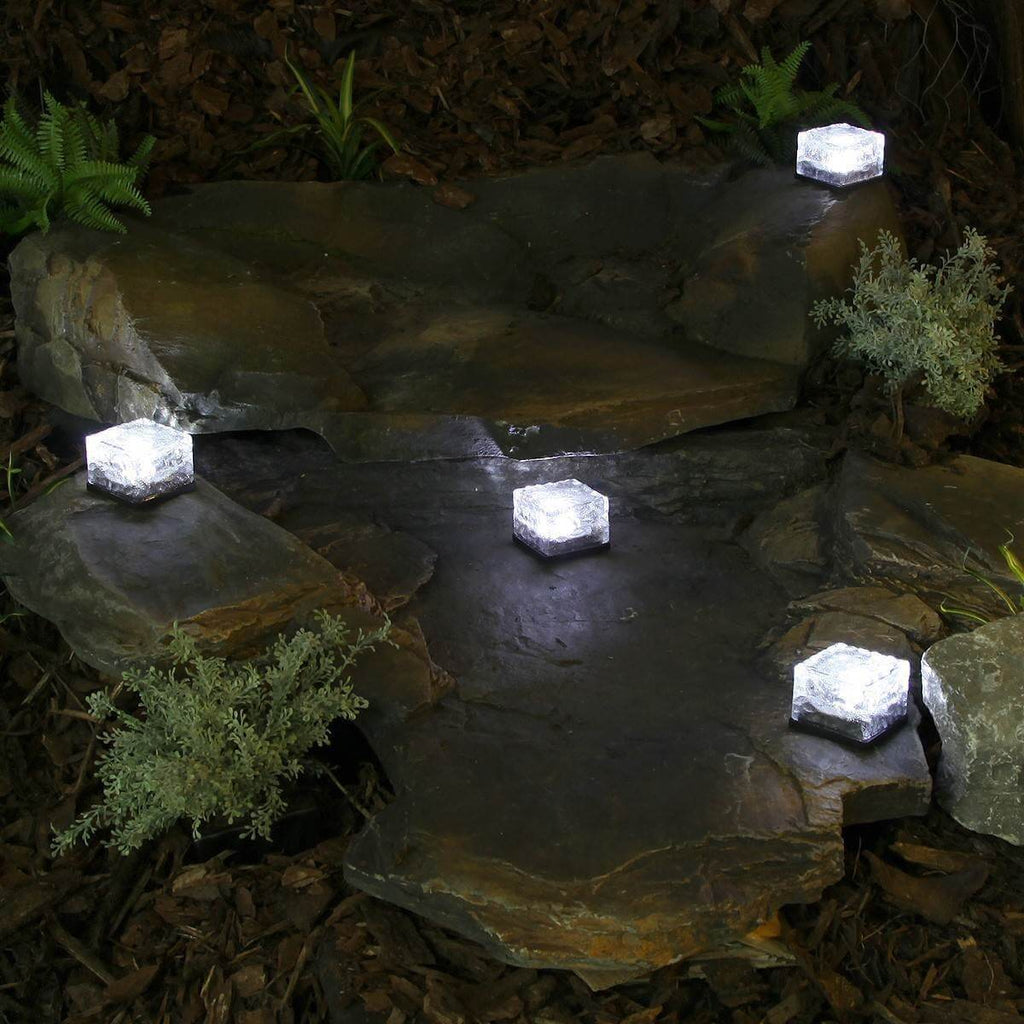 Solar Brick Path Light Ice Light Garden