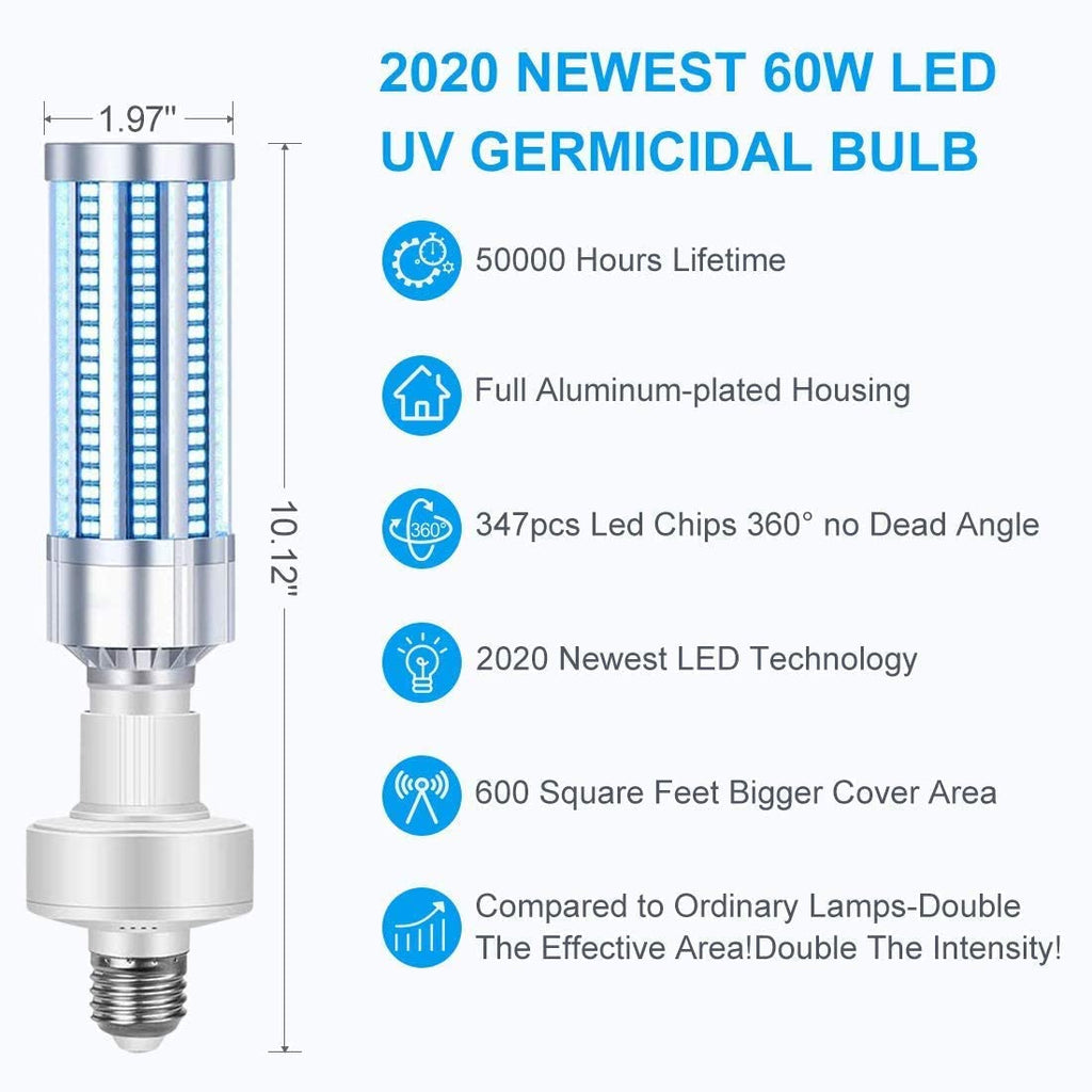 60W UV Germicidal Lamp Disinfection Light