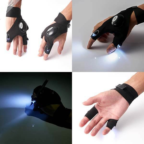 LED  Lit Up Glove For Night Working