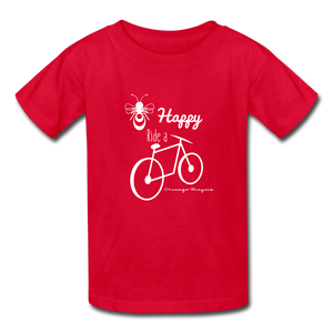 Bee Happy Kids T - red