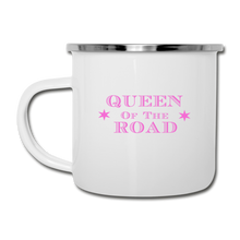 Load image into Gallery viewer, Queen Of The Road Camp Mug - white
