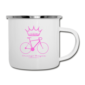Queen Of The Road Camp Mug - white
