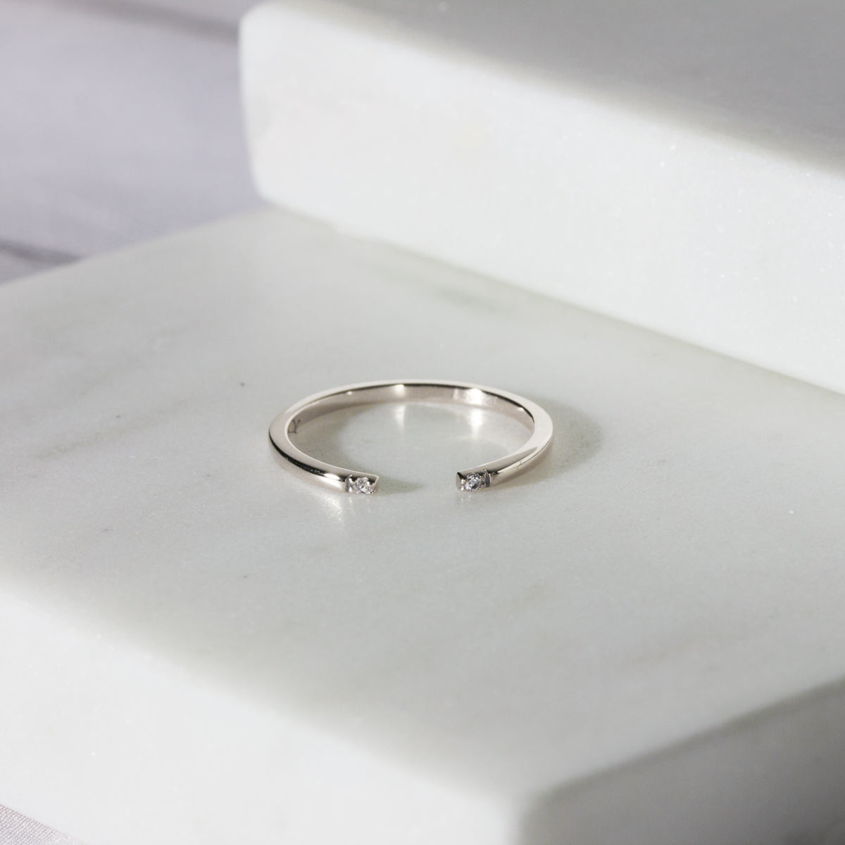 Yumi Open Pave Ring