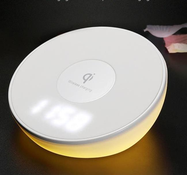 Wireless Charger with Alarm Clock and Night Light