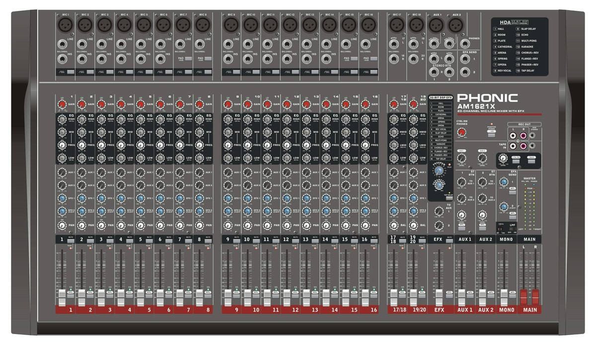 Phonic Mixer 16 Mix Channels with DFX