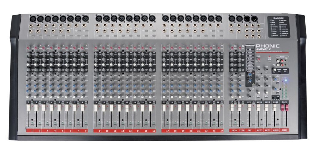 Phonic Mixer 24 Mic & 4 Stereo Channel with DFX