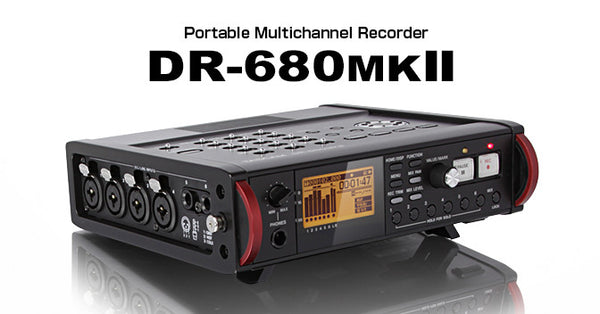 TASCAM DR-680MK2 PORTABLE MULTITRACK FIELD RECORDER