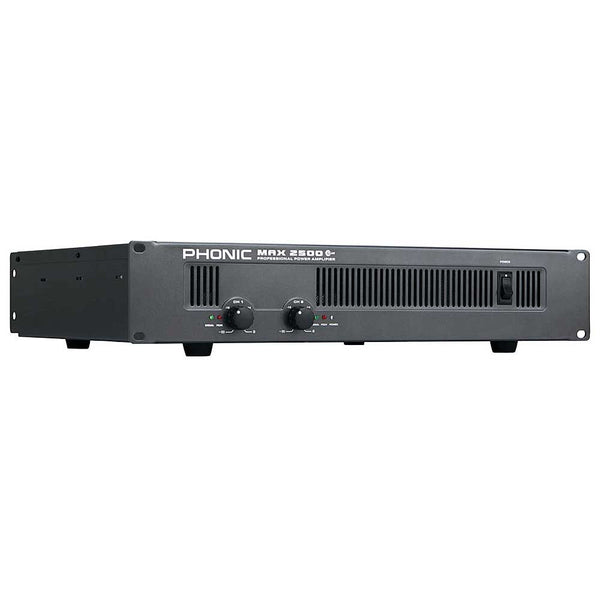 Phonic MAX-2500 + 1500W/RMS TOT@4OHM STEREO POWERAMP - new!
