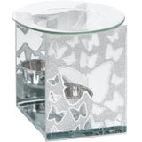 Silver Glitter Butterfly Wax Melter / Oil Burner