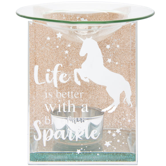 Rose Gold Glitter Unicorn Oil Burner