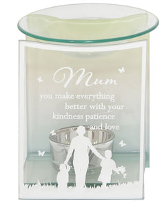 Mum Glass Wax Melter / Oil Burner 12cm